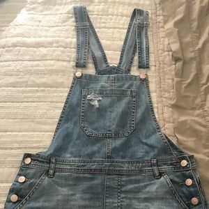 Forever 21 Denim Skirt Overalls